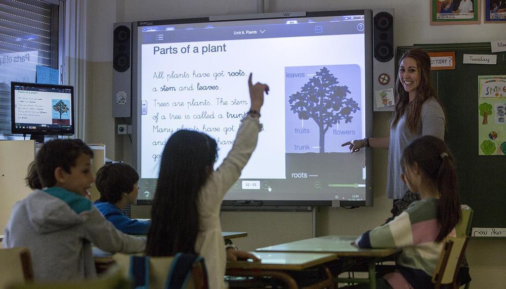 Clase de educación primaria en un colegio bilingüe de Madrid. DAVID F. SABADELL