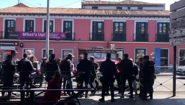 Acción contra VOX en Vallecas