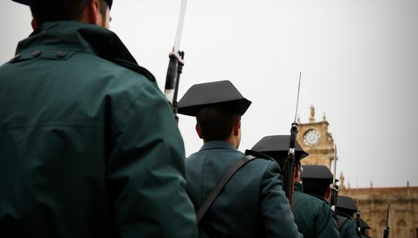 Guardia civil desfile