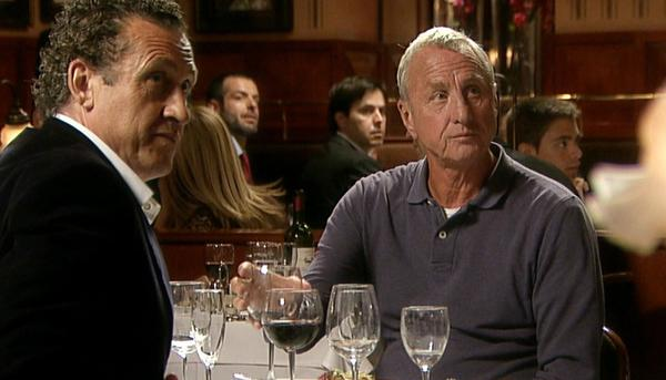 Valdano y Cruyff, en el documental 'Messi' (2014)