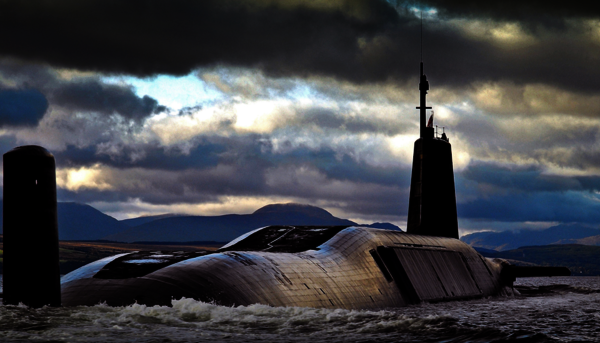Submarino británico Trident. Fuente: Beyond Nuclear International.