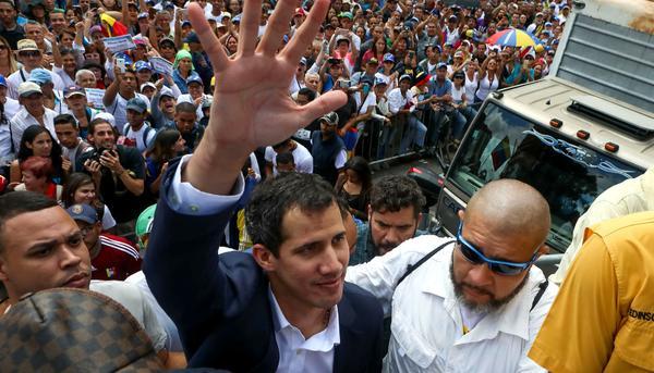 Juan Guaidó 23 de enero Caracas