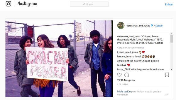 Cuenta de Instagram de Veteranas y Rucas