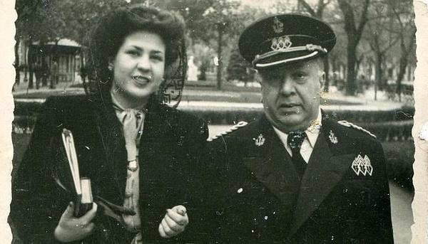 Francisco Machado y su sobrina Leonor