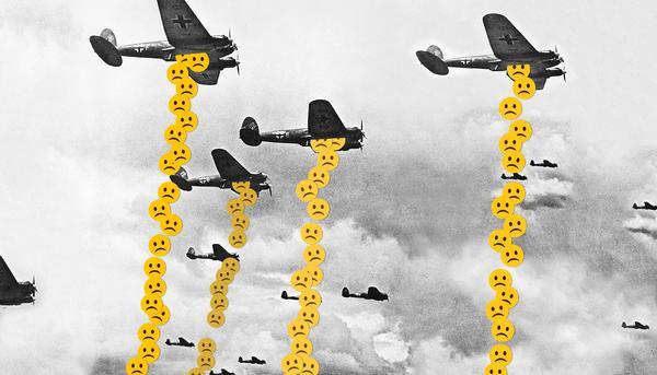 Montaje bombardeo nazi tristeza