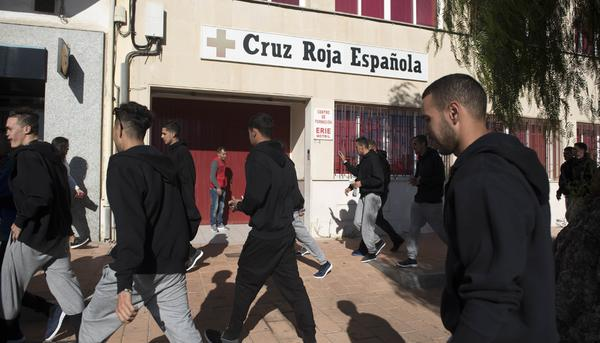 migrantes marroquies cruz roja
