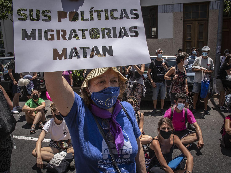 Acción de la Caravana Abriendo Fronteras en Tenerife (julio 2021) Dabid Sanchez