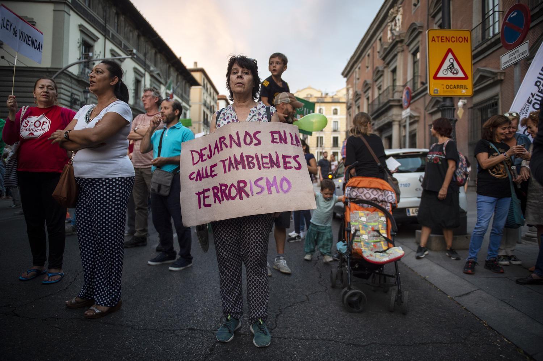 Manifestación de la PAH en Madrid Álvaro Minguito