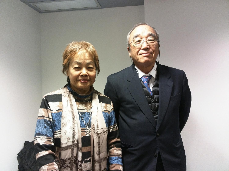 Suzuyo Takazato y Hiroshi Ashitomi en el Centro Delàs de Barcelona. Foto de Àngel Ferrero
