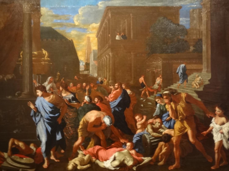 """""""Los filisteos atacados por la peste en Azoth"""" (Nicolas Poussin) Wikimedia Commons"""