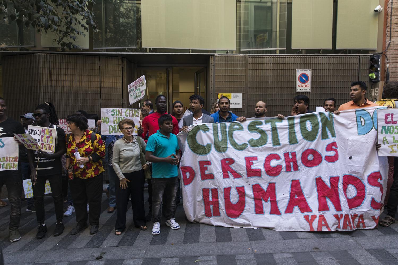 Sin citas no hay derechos protesta Madrilen. Argazkia: El Salto (David F. Sabadell)