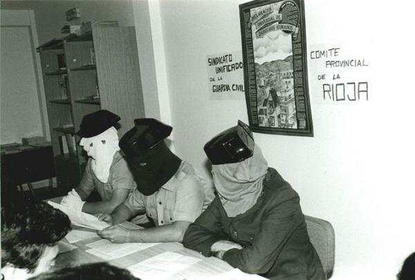 Sindicato Unificado Guardia Civil encapuchado