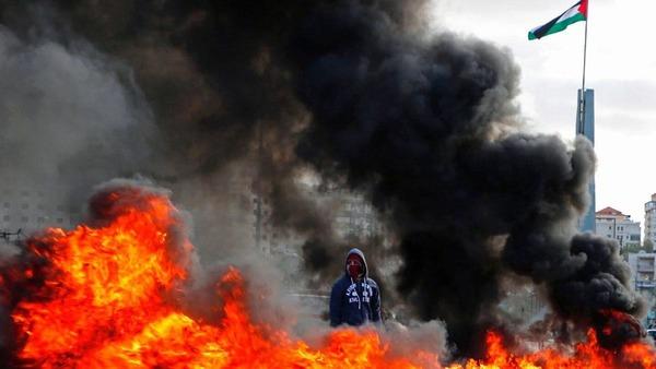 Protesta en Ramallah
