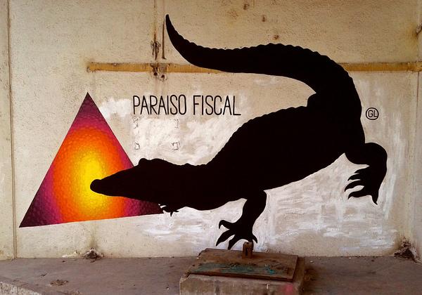 PARAÍSO FISCAL. Obra de @gaucholadri en colaboración con E1000, Madrid