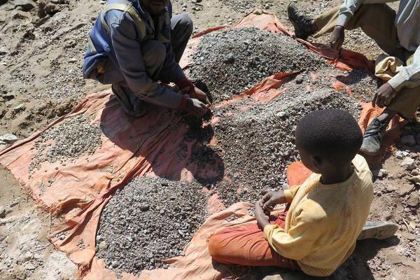 Extracción de cobalto en el Congo