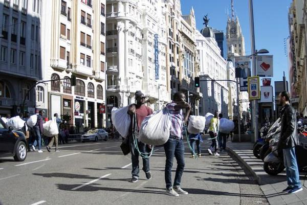 Vendedores ambulantes en Madrid