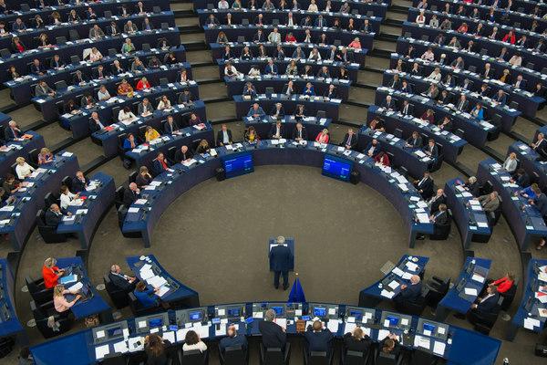 Sesión sobre el estado de la Unión en el Parlamento Europeo.