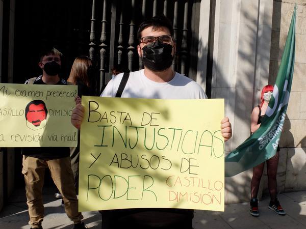Concentración estudiantes Andalucía 7