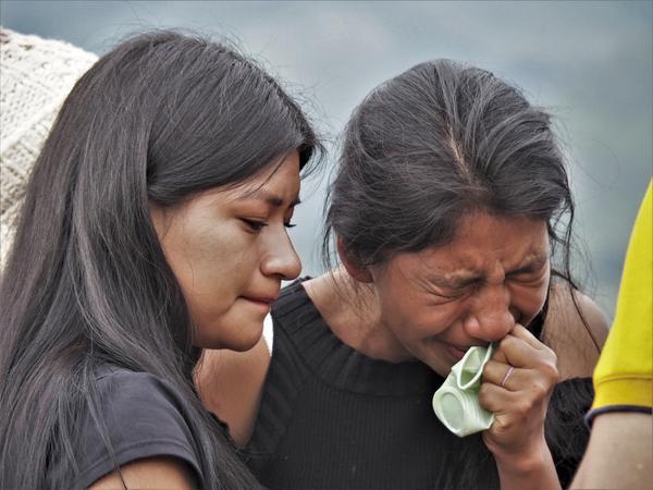 Colombia funeral indígenas