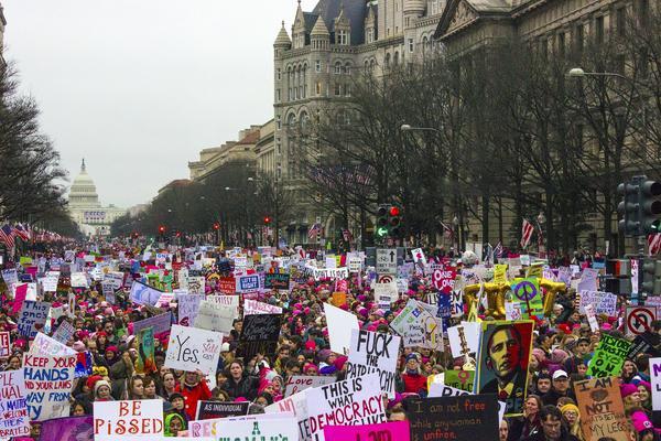Manifestación antiTrump en Washington