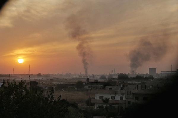La ciudad de Afrín en llamas