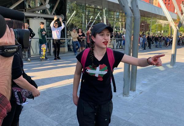 Herida en protesta contra Vox en Bilbao