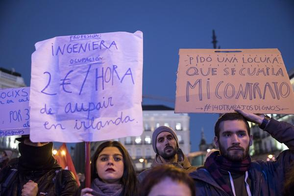 Concentración en Puerta del Sol contra explotación laboral