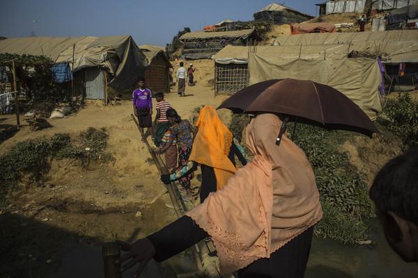 Campamento para desplazados de la etnia rohingya en Kutupalong, en Bangladés.
