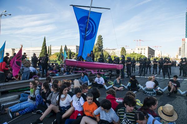 Protesta en la huelga por el Clima, el pasado 7 de octubre en Madrid. Álvaro Minguito
