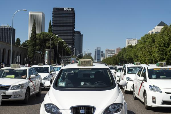 Huelga de taxis en Madrid