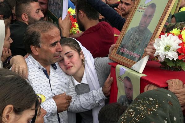 Entierro en Haseke kurdistan