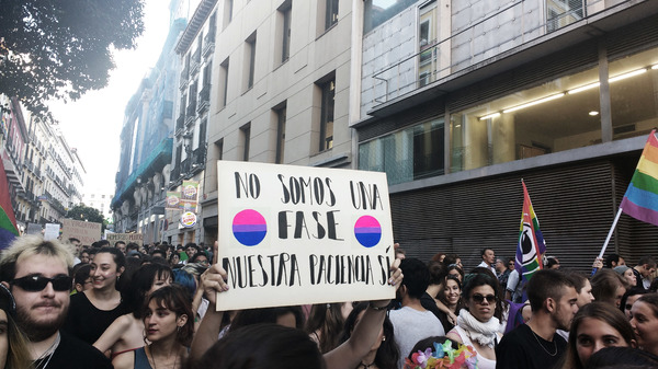 Bloque Bisexual en el Orgullo Crítico 2017