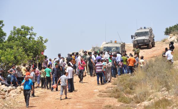 Protesta contra la expansión de las colonias en el área de Salfit