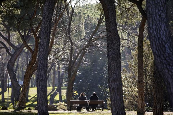 Pensionistas parque