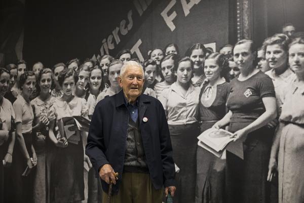 Martín Arnal Mur, en la Fundación Anselmo Lorenzo en Madrid