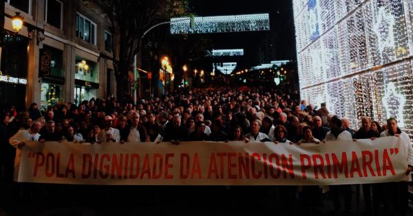 Manifestación Sanidade Vigo en decembro 2018