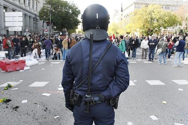 Porra manifestación antidisturbio 14N