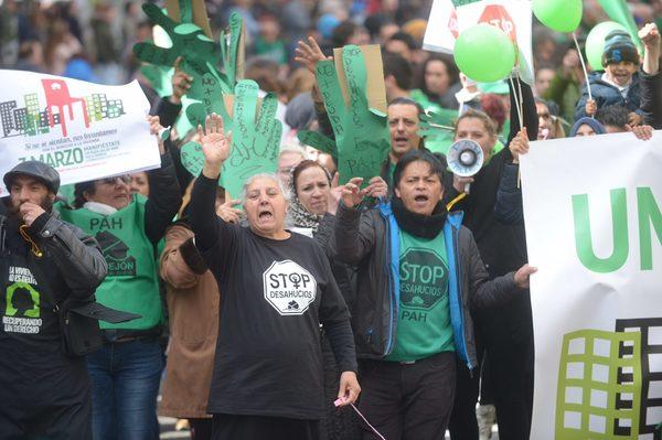 Manifestación Ley de Vivienda de la PAH.