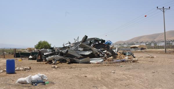 Efectos de las demoliciones israelíes en el Valle del Jordán