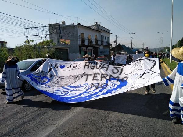 Marcha contra Proyecto Integral Morelos 2