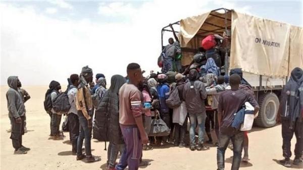 Inmigrantes abandonados en el desierto del Sahara. Fuente: OIM