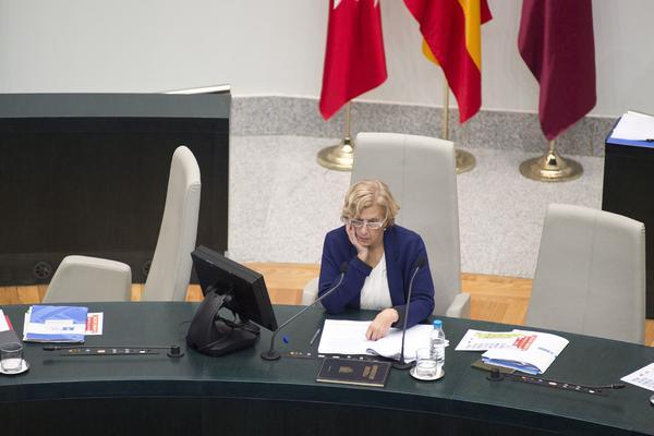Manuela Carmena, en el Ayuntamiento de Madrid Álvaro Minguito
