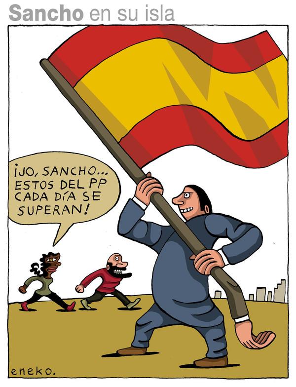 Eneko:bandera española y corrupción