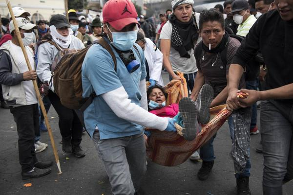 Represión protestas Ecuador 8 de octubre 2019