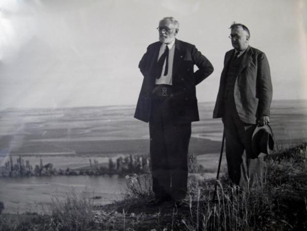 Unamuno y Casto Prieto en La Flecha de fray Luis (Cabrerizos)