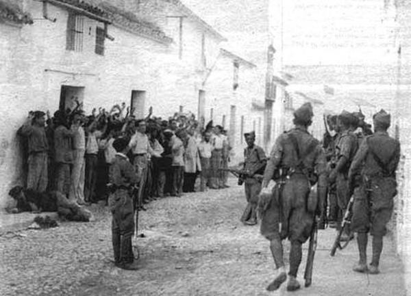 Fusilamiento de apresados por los franquistas