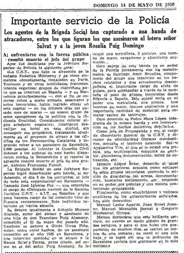 Detención en La Vanguardia
