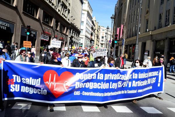 Manifestación CAS Sanidad Pública