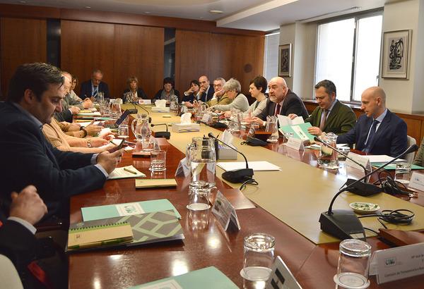 Reunión del Consejo de Transparencia y Buen Gobierno en enero de 2018