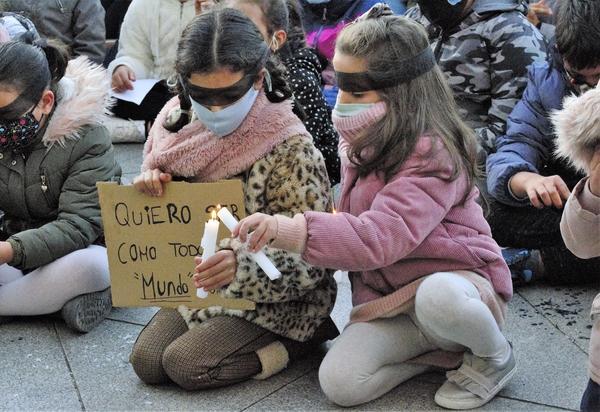 Protesta niños Cañada Real 5